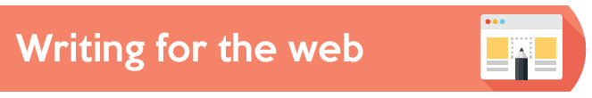 'Writing for the web' banner